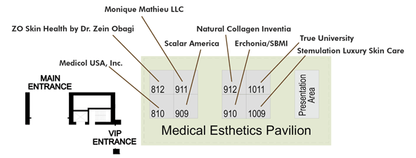 Floor plan for the Medical Esthetics Pavilion